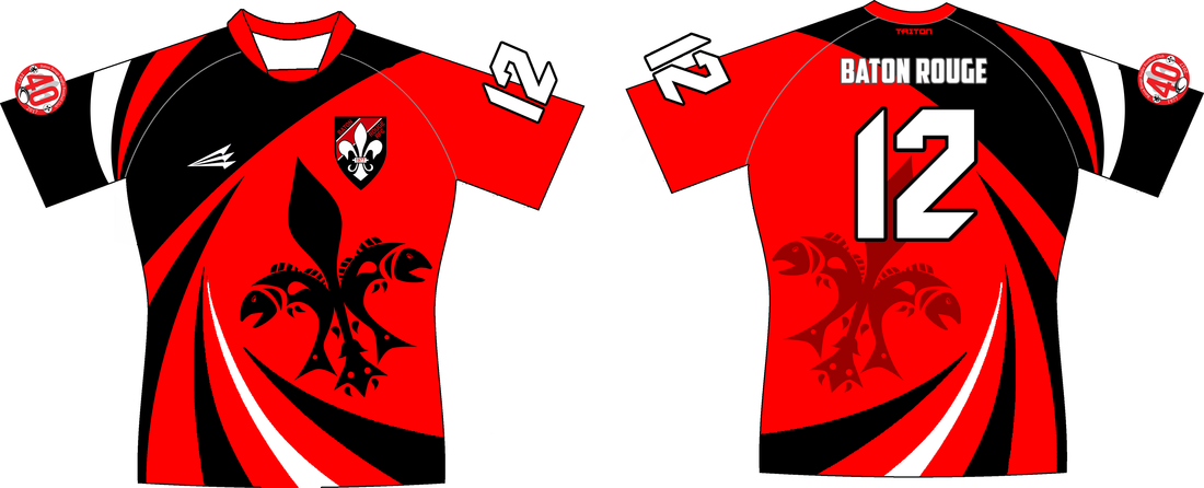 Baton rouge rfc custom rugby jerseys custom rugby for Custom t shirts baton rouge
