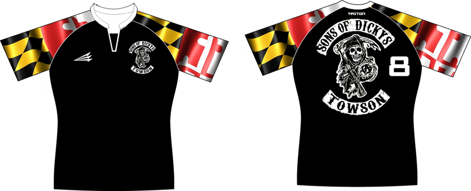 Towson Sons of Dickeys Custom Rugby Jerseys - Custom Rugby
